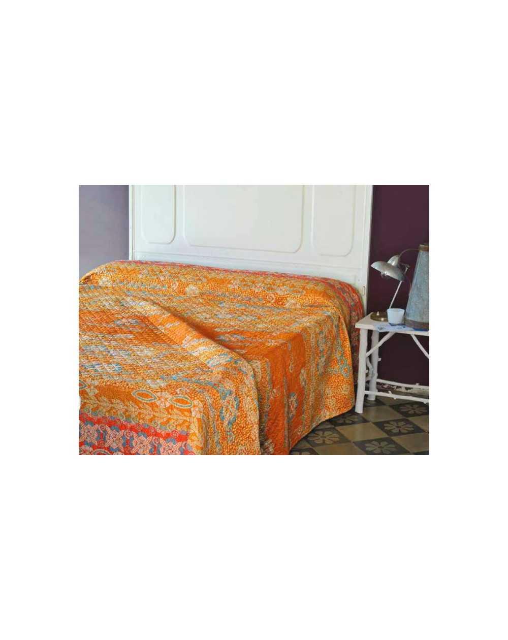 Telo arredo copridivano copriletto col arancio piazza armerina granfoulard bassetti - Copridivano bassetti ...