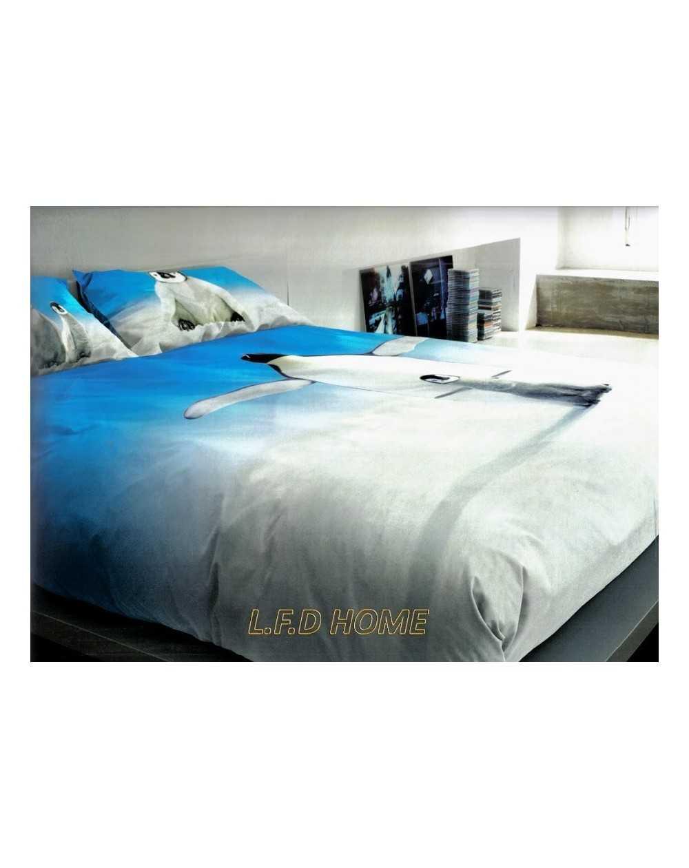74e5c18f1e Quality cotton bed linen PENGUINS ANIMALS - LA NATURA BASSETTI