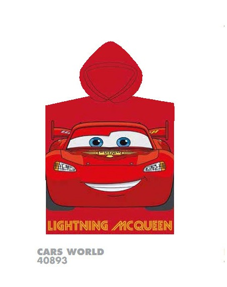 KID'S HOODED TOWEL CARS World DISNEY