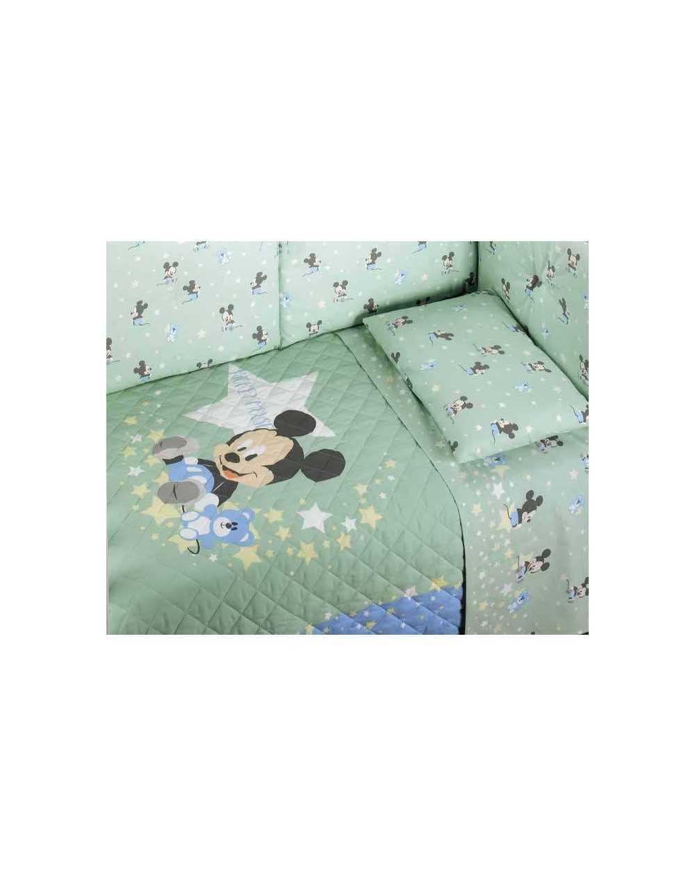 Set Lenzuola Lettino Baby Neonato Topolino Mickey Dream Verde ...