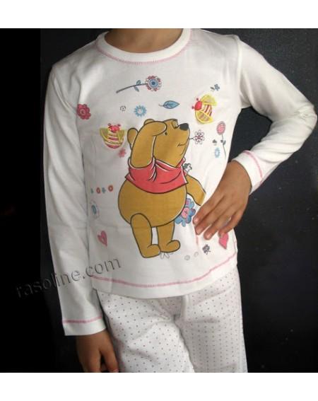 Schlafanzug WINNIE THE POOH LOVE DISNEY Baumwolle 100%