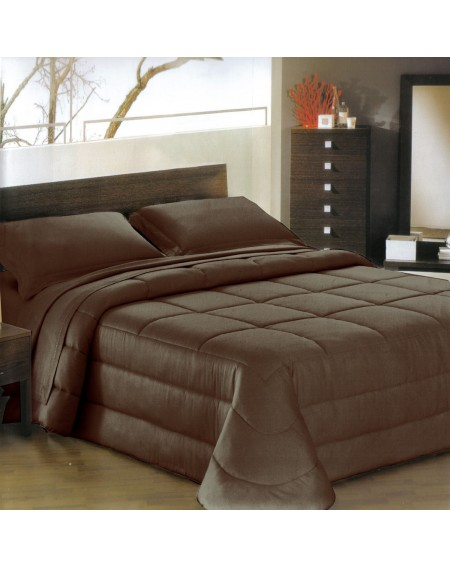 COMFORTER Satin Ines Brown