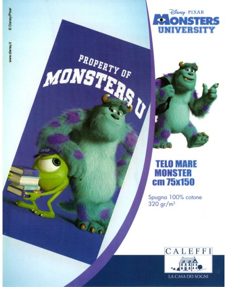 Toalla de playa para niños Monsters University Disney