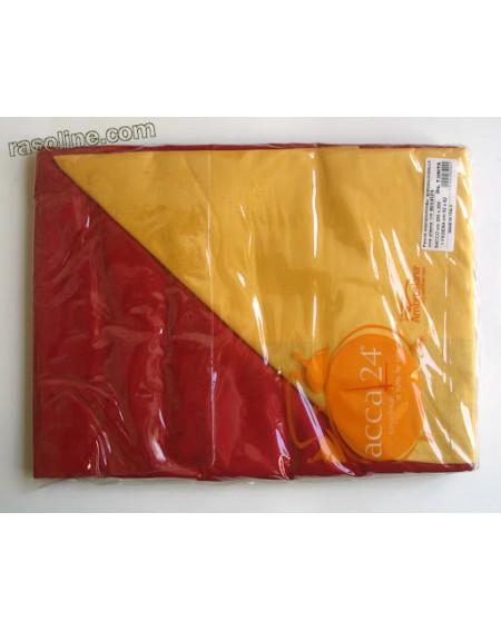 Parure Copripiumino Una Piazza E Mezza Tinta Unita Double Face Bordeaux - giallo