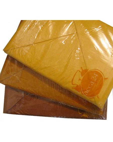 Completo Lenzuola Matrimoniale In Cotone Colore Arancio Zucca Tinta Unita