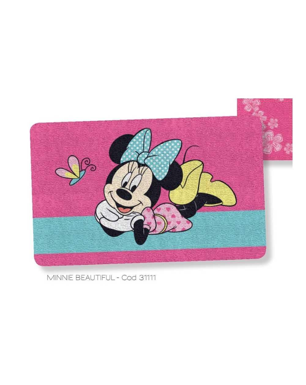 Tappeto  Scendiletto Minnie Fuxia 50 X 80 Cm Disney