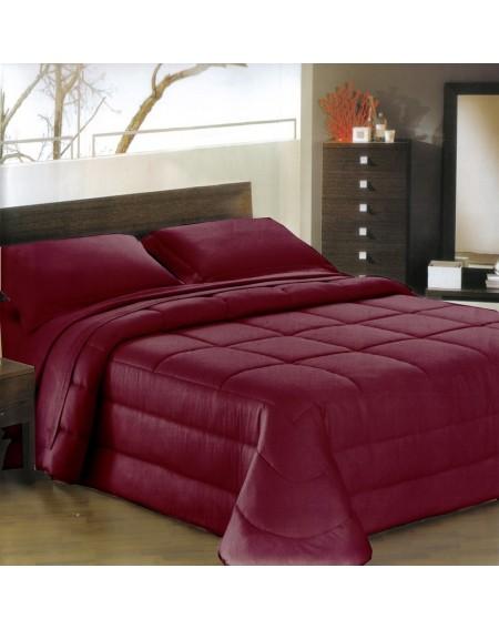 Daunenbett Comforter Ines satin BORDEAUX