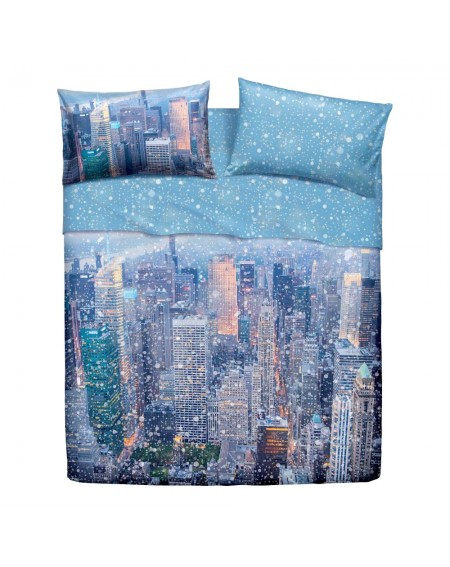 PARURE DE DRAP 1 PLACE New York Bassetti Natura City