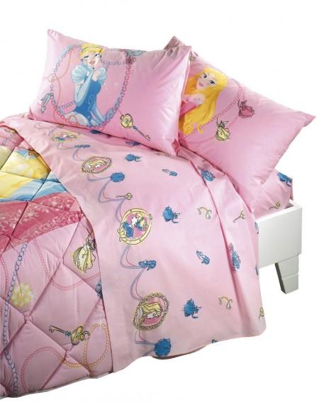 Parure de lit pour lit 1 personne Set Draps Princesses Gioielli Caleffi