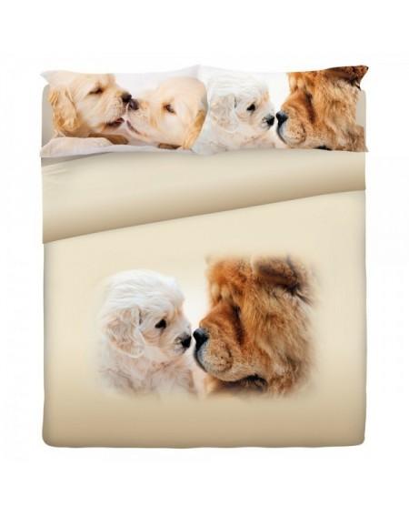 Parure de lit pour lit 130 cm Set Draps Doggy