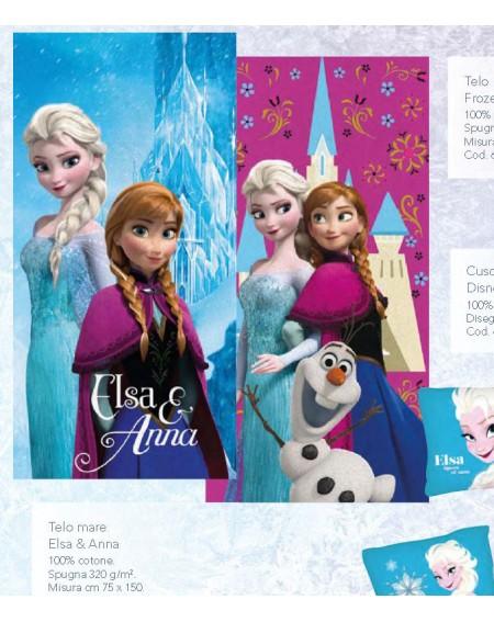 DRAP DE BAIN DISNEY Elsa & Anna
