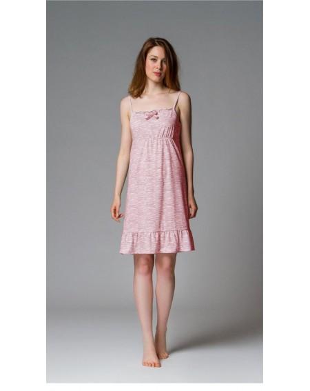 Camicia da Notte in Cotone Abito Zebra Rosa Vestito Noidinotte