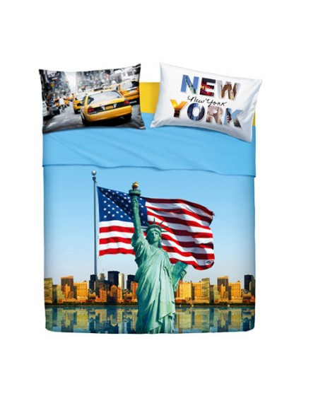 SHEET SET SINGLE BED American Dream BASSETTI NATURA CITY