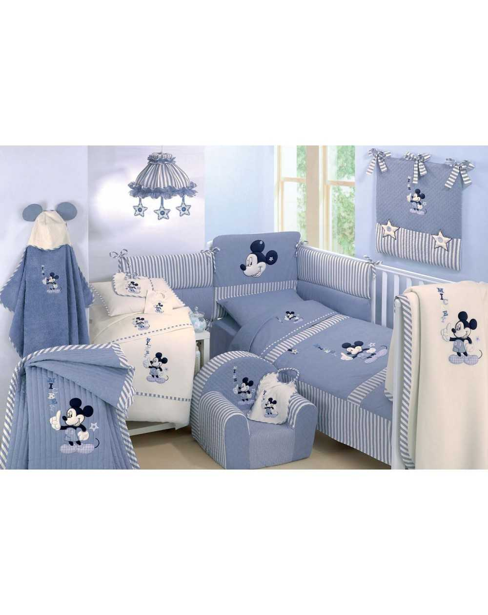 lovely linge de lit bebe mickey 12 tour de lit edredon. Black Bedroom Furniture Sets. Home Design Ideas