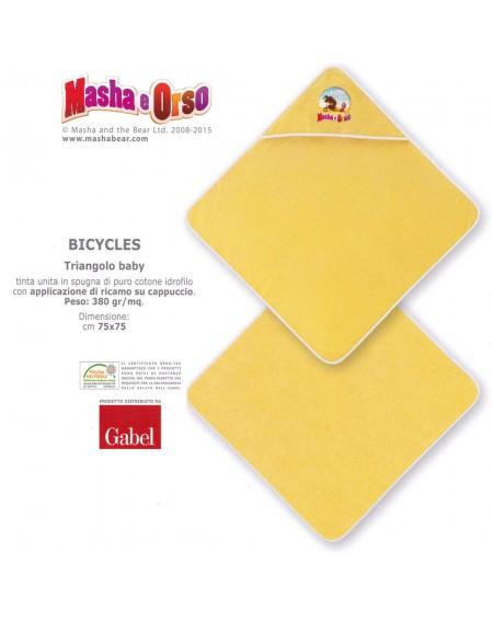 Bademantel Handtuch Mascha und der Bär Bicycles