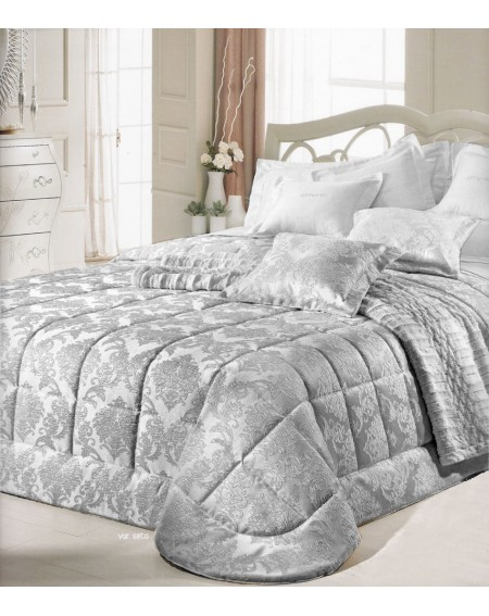 Beadspread bed-cover in satin jacquard Malta Beige