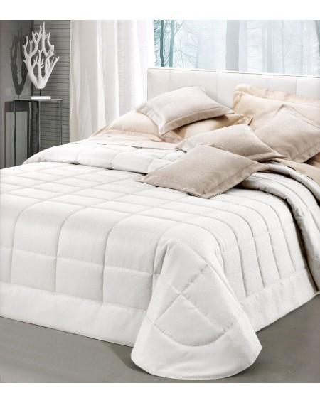 Couvre-lit in jacquard blanc Dalila