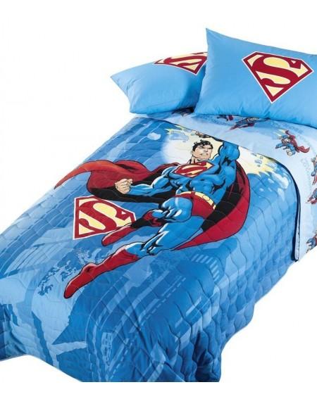 Bettüberwürfe gesteppte Superman Energy Himmelblau Caleffi
