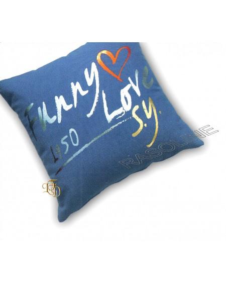 Cuscino Decorativo Sweet Years Funny Love Blu