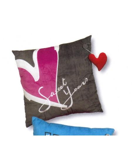 Cuscino Decorativo Sweet Years Icon 45 x 45 cm velluto + spilla