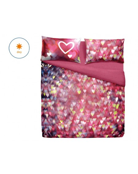 Duvet cover Quality cotton bed linen Love Hearts Bassetti