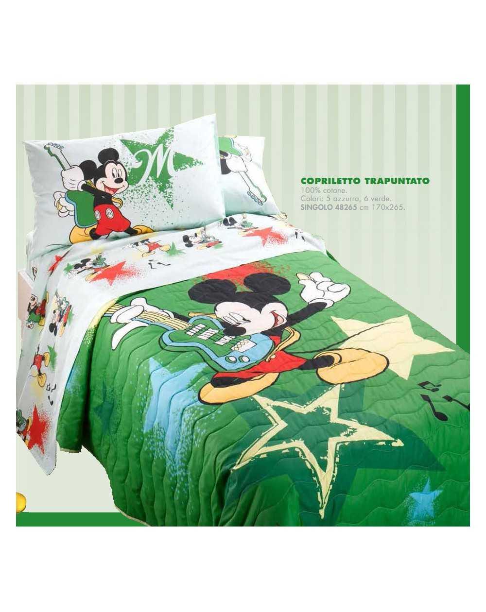 Caleffi Copriletto Trapuntato Singolo//Una Piazza in Cotone Disney Mickey Ok