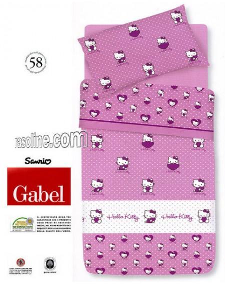 Bettüberwürfe Panama einzelbett maße Hello Kitty Cuore Gabel