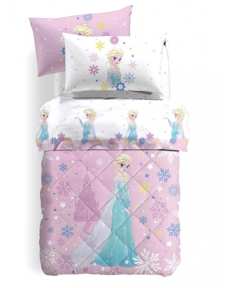Single Bed SET Flat sheet, fitted sheet, pillowcases Frozen