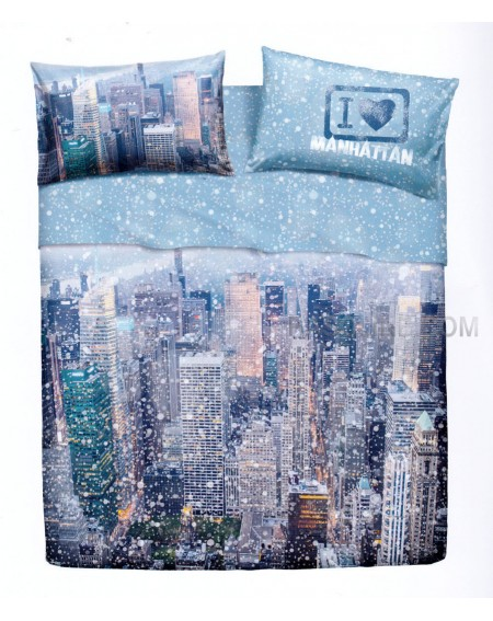 Double bed sheet set MANHATTAN BY BASSETTI - NATURA CITY