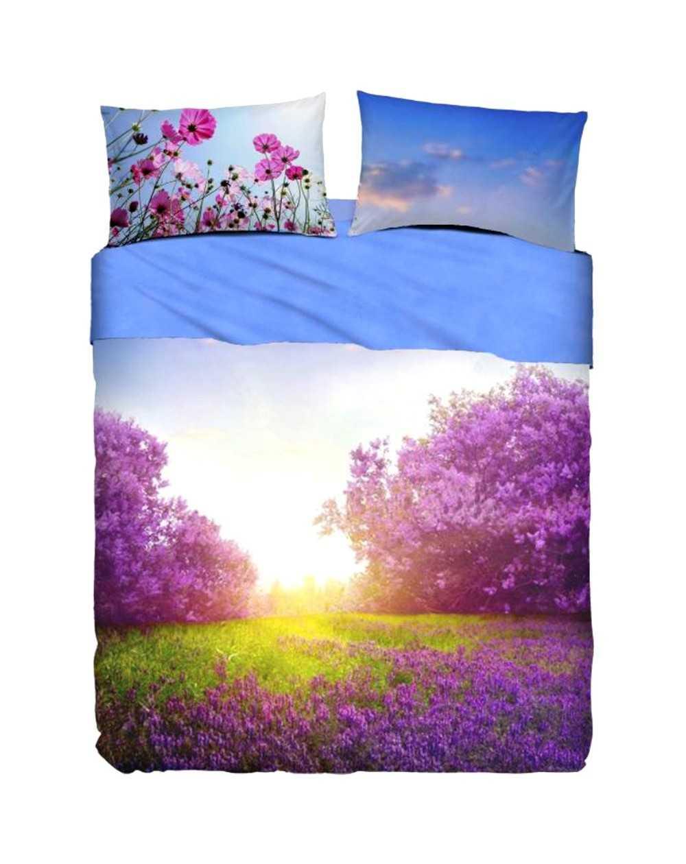 Lenzuola Matrimoniali Paesaggi.Super King Size Sheet Set Purple Summer