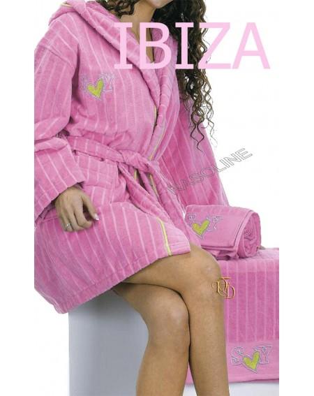 Coppia Asciugamani 1+1 Sweet Years Caleffi Ibiza Spugna rosa