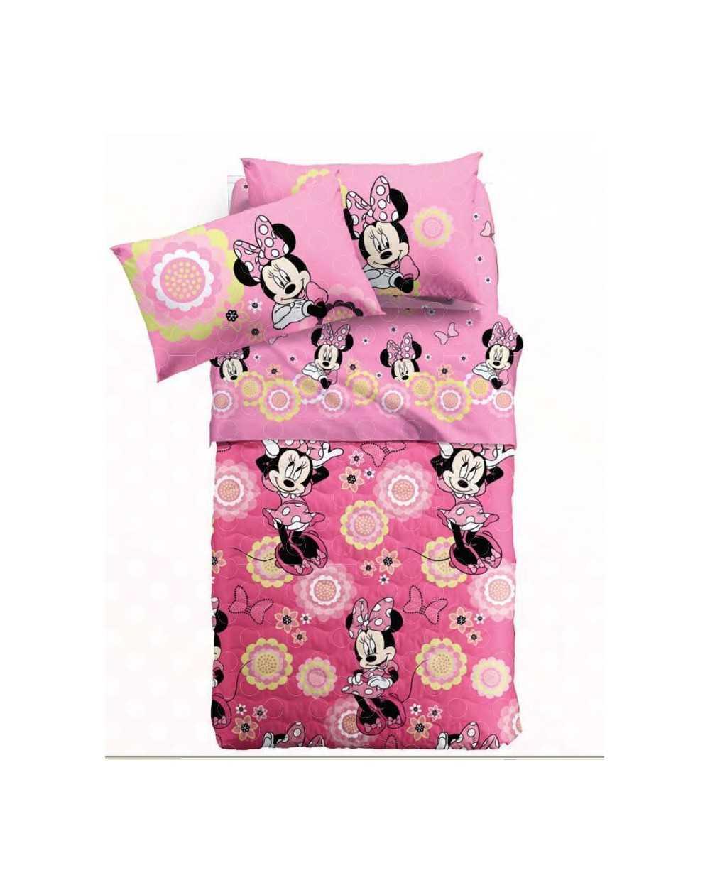 Completo lenzuola una piazza e mezza rosa minnie allegra caleffi disney rasoline l f d home - Completo letto minnie e topolino ...