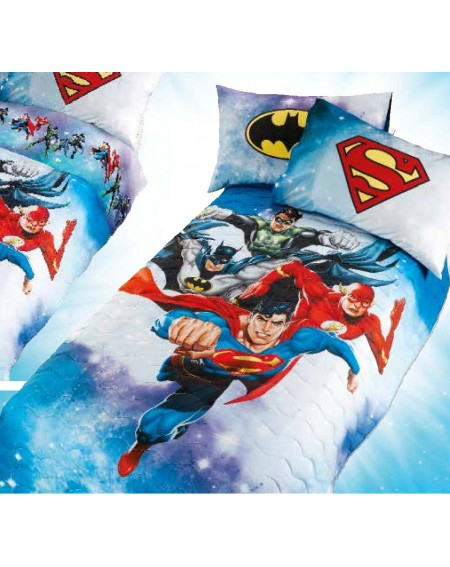 Bettüberwürfe gesteppte Superman Batman Digital Caleffi