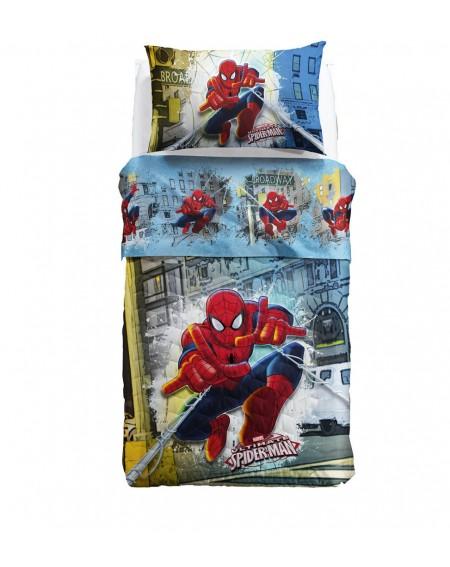 Cubrecama Colcha Spiderman New York