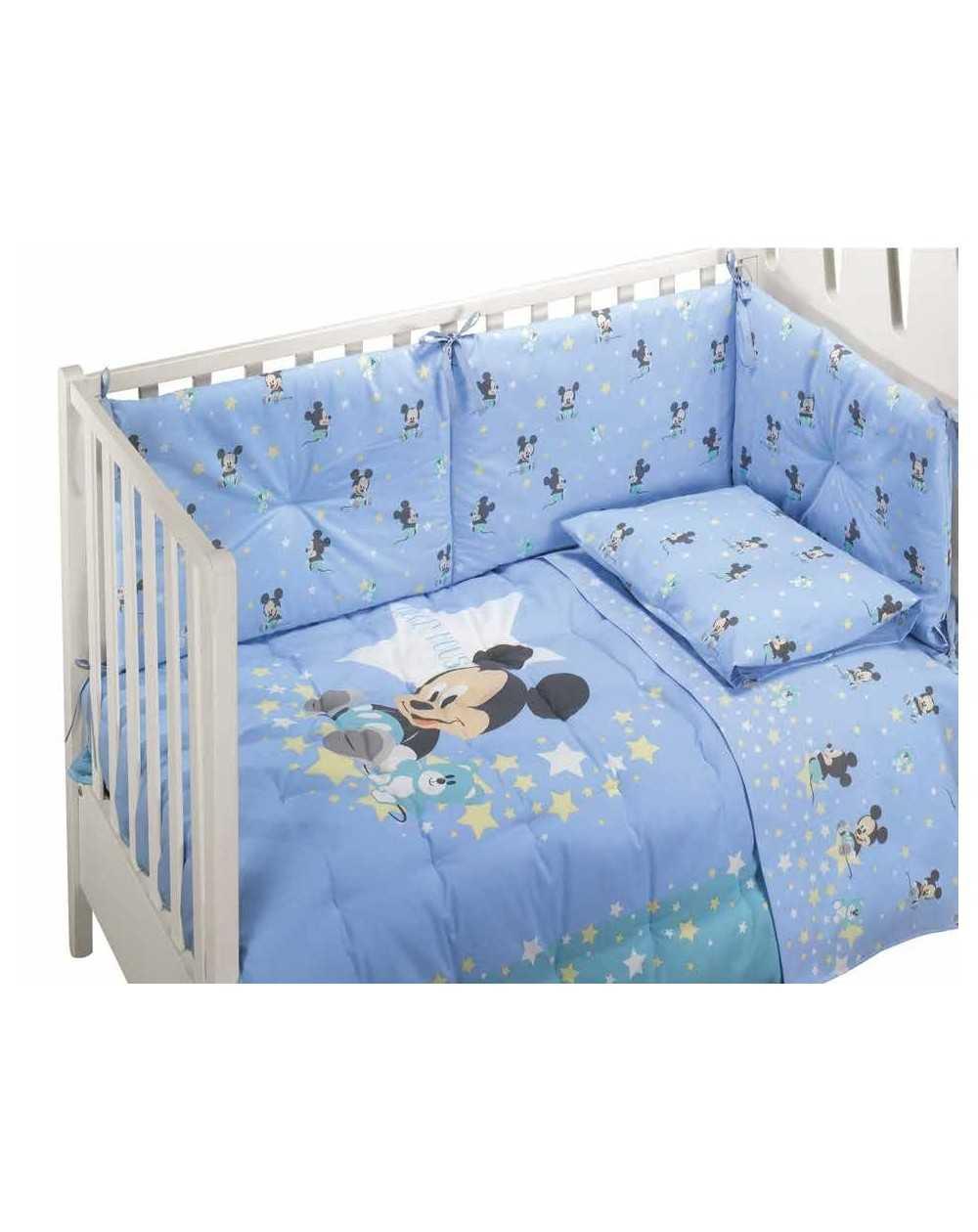 Ensemble tours de lit dredons b b s mickey dream baby for Housse tour de lit bebe