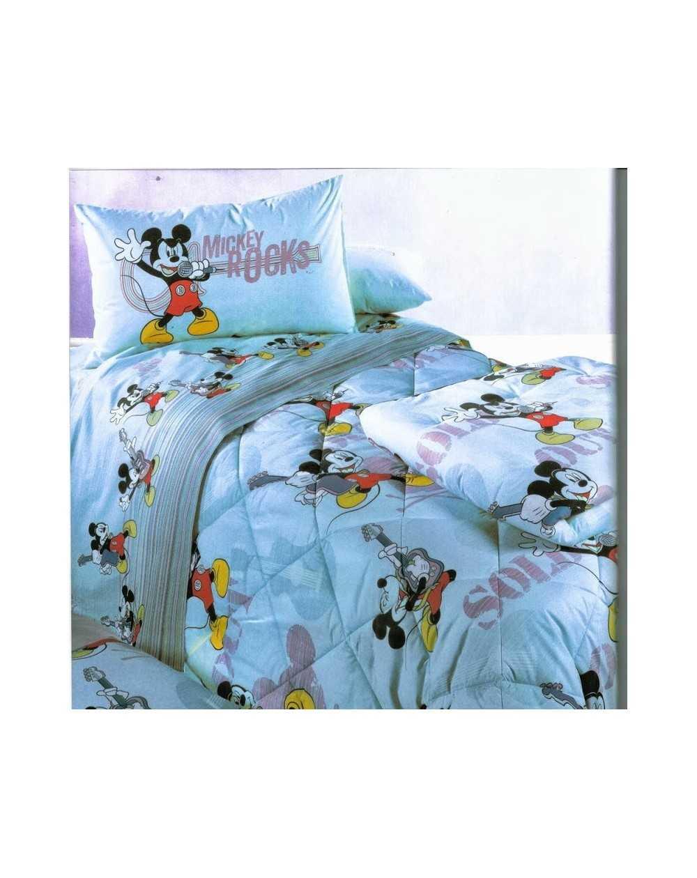 Lenzuola Flanella Disney Caleffi.Set Lenzuola Topolino Mickey Star Azzurro Flanella Piazza E Mezza Caleffi Disney