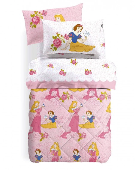 SET Flat sheet + fitted sheet Princess flanel