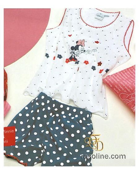 Schlafanzug Minnie Canotta + Shorts Disney 11/12 Jahre
