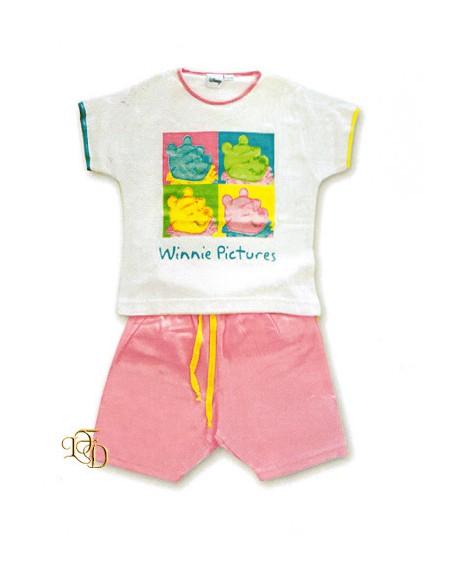 Pink Short Pajamas Suit Winnie The Pooh 5/6 Years Disney