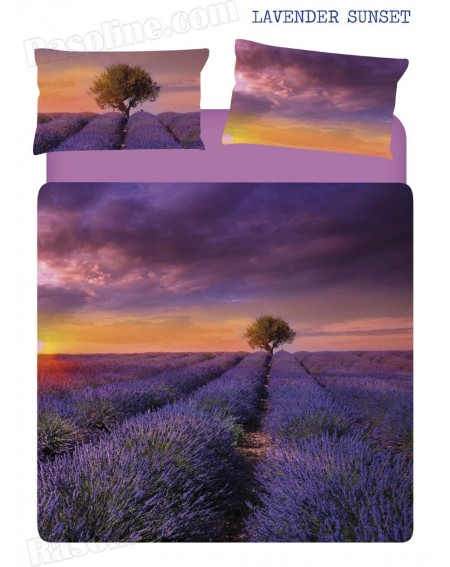 Bettbezug + Bettlaken Lavender Sunset Caleffi
