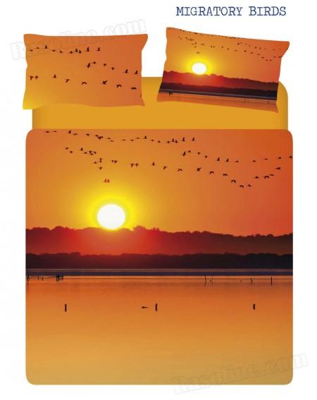 Parure de lit 2 personne Housse de couette Migratory Birds Caleffi