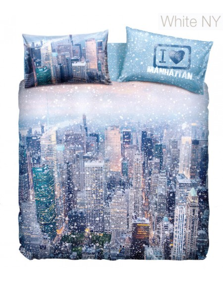 Duvet Set  a fitted sheet,Manhattan By Bassetti WHITE NEW YORK