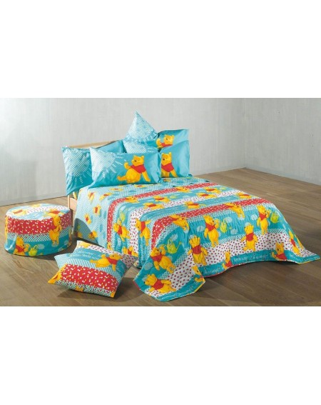 Single Bed Sheet Set WINNIE THE POOH GARDEN CALEFFI