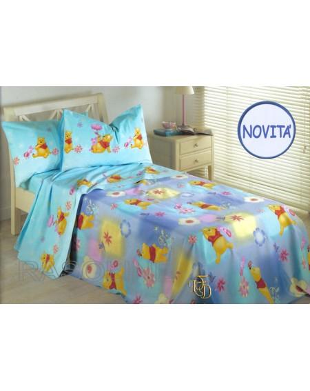 Cotton Bed Cover Winnie The Pooh Acquarelli Caleffi