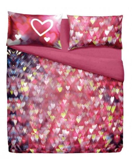 Bettwäsche Garnitur Spannbettlaken Bettlaken Love Hearts