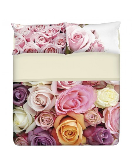 SHEET SET SUPER KING SIZE BED ROSE GARDEN