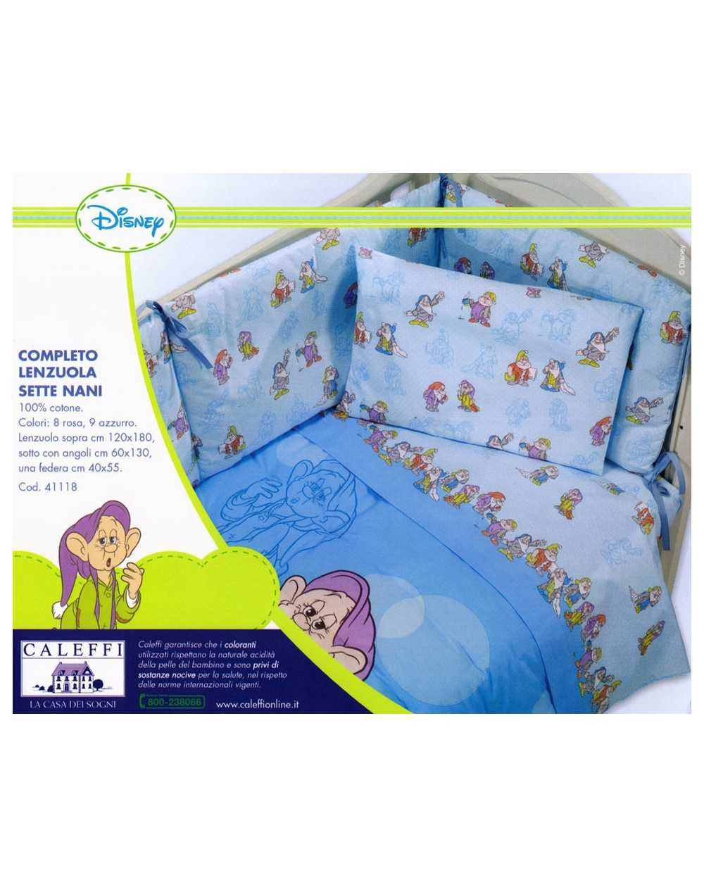 Baby Bedding Sheets Set Sleepy Seven Dwarfs