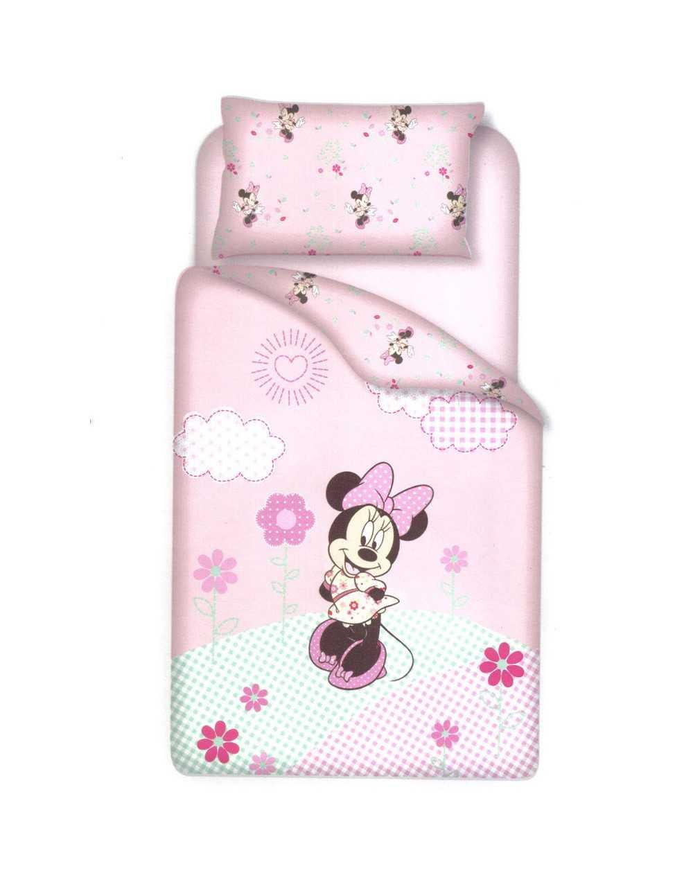 personalizzate nuovo arriva comprare reale Minnie Parure Copripiumino e Federa per Lettino Baby Disney Gioia