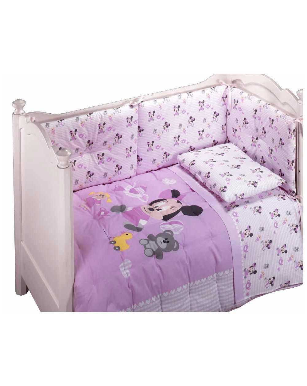 linge de lit b b set de draps minnie rasoline l f d home. Black Bedroom Furniture Sets. Home Design Ideas