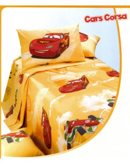 Bettüberwürfe in Panama nicht gesteppte Cars Corsa orange Bett 125 cm Caleffi
